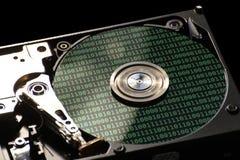 与二进制编码的硬盘驱动器 库存图片