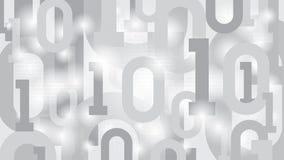 与二进制编码,在大数据神经网络抽象未来派矩阵网际空间云彩的数字式代码的背景  免版税库存图片