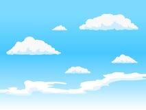 与云彩传染媒介例证的天空 免版税图库摄影