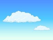与云彩传染媒介例证的天空 免版税库存图片