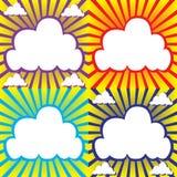 与云彩和光束的天空 库存照片