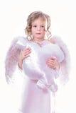 与云彩的天使 图库摄影