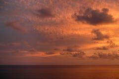 与云彩的天空在日落 免版税库存图片