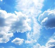 与云彩的天空 免版税图库摄影