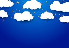 与云彩的抽象梦想背景 免版税图库摄影