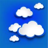 与云彩的抽象网络设计背景。 免版税库存图片
