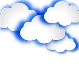 与云彩的抽象网络设计背景。 图库摄影