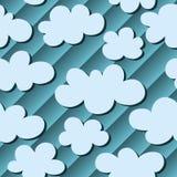 与云彩的无缝的背景在天空 库存照片