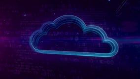 与云彩的网际空间数字概念 皇族释放例证