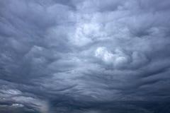 与云彩的美丽的风暴天空 库存照片