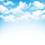 与云彩的蓝天 图库摄影