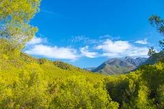 与云彩的风景,西班牙 库存图片