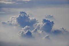 与云彩的阴影 库存图片