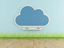 与云彩黑板的空的游戏室 免版税库存图片