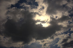 与云彩18的蓝天 免版税库存照片
