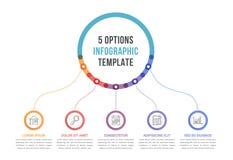 与五个选择的Infographic模板 向量例证