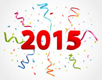 与五彩纸屑的新年好庆祝 库存照片