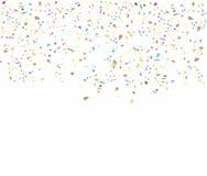与五彩纸屑的生日背景 免版税库存照片
