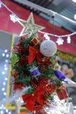 与五角星形的圣诞树 库存照片