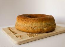 与五谷的被拼写的面包拼写 库存图片
