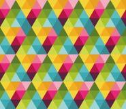 与五颜六色的三角的无缝的样式 库存例证