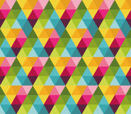 与五颜六色的三角的样式 向量例证