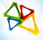与五颜六色的三角的背景 免版税库存图片