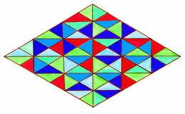 与五颜六色的三角的金刚石 免版税库存照片