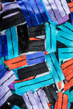 与五颜六色的丝带的构成 免版税库存图片