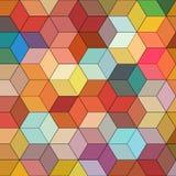 与五颜六色的六角形的多角形的抽象背景 免版税图库摄影