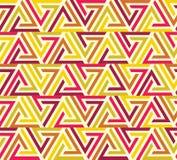 与五颜六色的几何形状的无缝的样式 向量例证