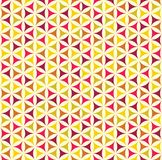 与五颜六色的几何形状的无缝的样式 库存例证