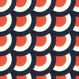 与五颜六色的圈子和圆环的无缝的样式 库存图片