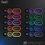 与五颜六色的圈子的传染媒介infographic设计名单 库存照片
