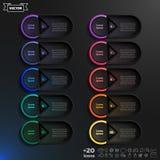与五颜六色的圈子的传染媒介infographic设计名单 免版税库存照片