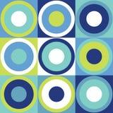 与五颜六色的圈子的减速火箭的设计瓦片背景 免版税库存照片