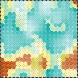 与五颜六色的圈子的抽象无缝的样式 库存照片
