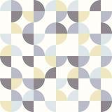 与五颜六色的圈子的无缝的几何样式 皇族释放例证