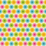 与五颜六色的圈子的样式 库存例证