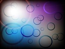 与五颜六色的圈子的现代抽象背景与梯度 库存照片