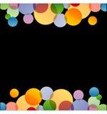 与五颜六色的圈子的背景 库存图片