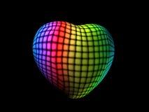 与五颜六色的块的心脏 免版税图库摄影