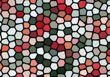 与五颜六色的多角形的抽象背景 库存照片
