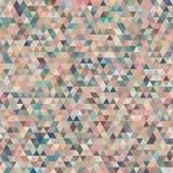 与五颜六色的嫩三角的抽象无缝的样式 库存图片