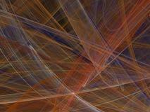 与五颜六色的弯曲的线和波浪的抽象分数维 免版税库存照片