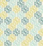 与五颜六色的形状的几何无缝的样式 向量例证