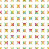 与五颜六色的形状的无缝的样式 皇族释放例证