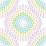 与五颜六色的彩虹正方形形状的抽象背景 图库摄影