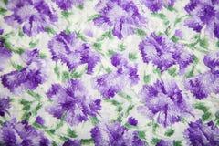 与五颜六色的抽象花卉样式的亚麻制织品 免版税图库摄影