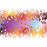 与五颜六色的映象点的抽象数字式背景 免版税库存照片